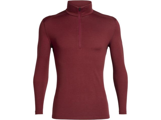 Icebreaker 260 Tech LS Half Zip Shirt Herre cabernet